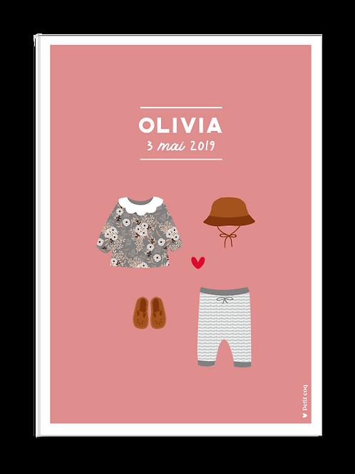Affiche dressing Olivia