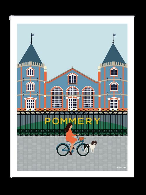 Affiche 30x40 Maison Pommery