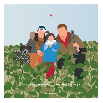 Famille champ campagne