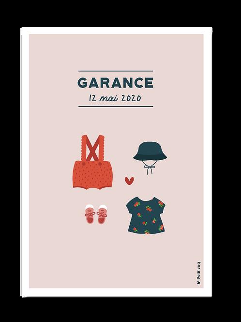 Affiche dressing Garance