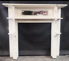 No. 42 Edwardian Mirrored Double Shelf