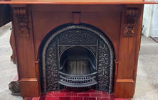 6. Victorian Arched Ornate Returns Mantle