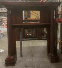 No. 41 Late Victorian / Edwardian Large Solid Column Mantle