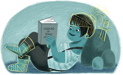 Knight reading.png