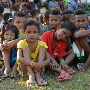 Children of Aeta trib in Philippines