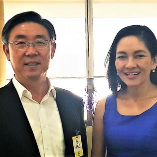 With Senator Risa Hontieros