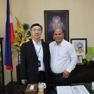 With Mayor of Capas city