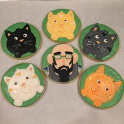 How cool do you have to be yo pick my cat from hell birthday  cookies instead of a cake_ The answer_