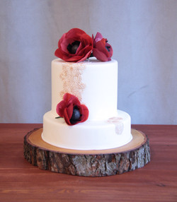 Gold Lace and Red Poppies