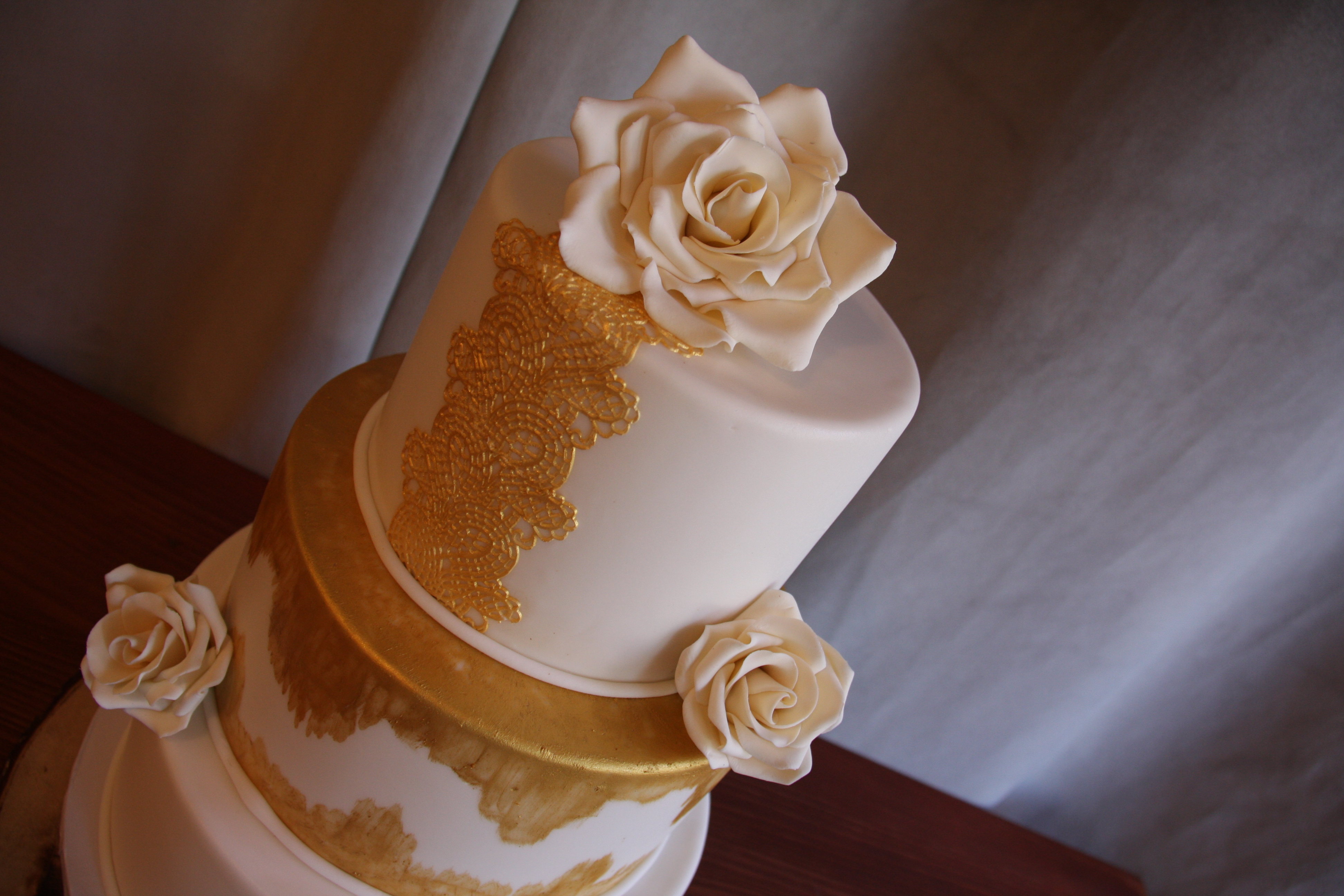 Gold Lace and White Roses