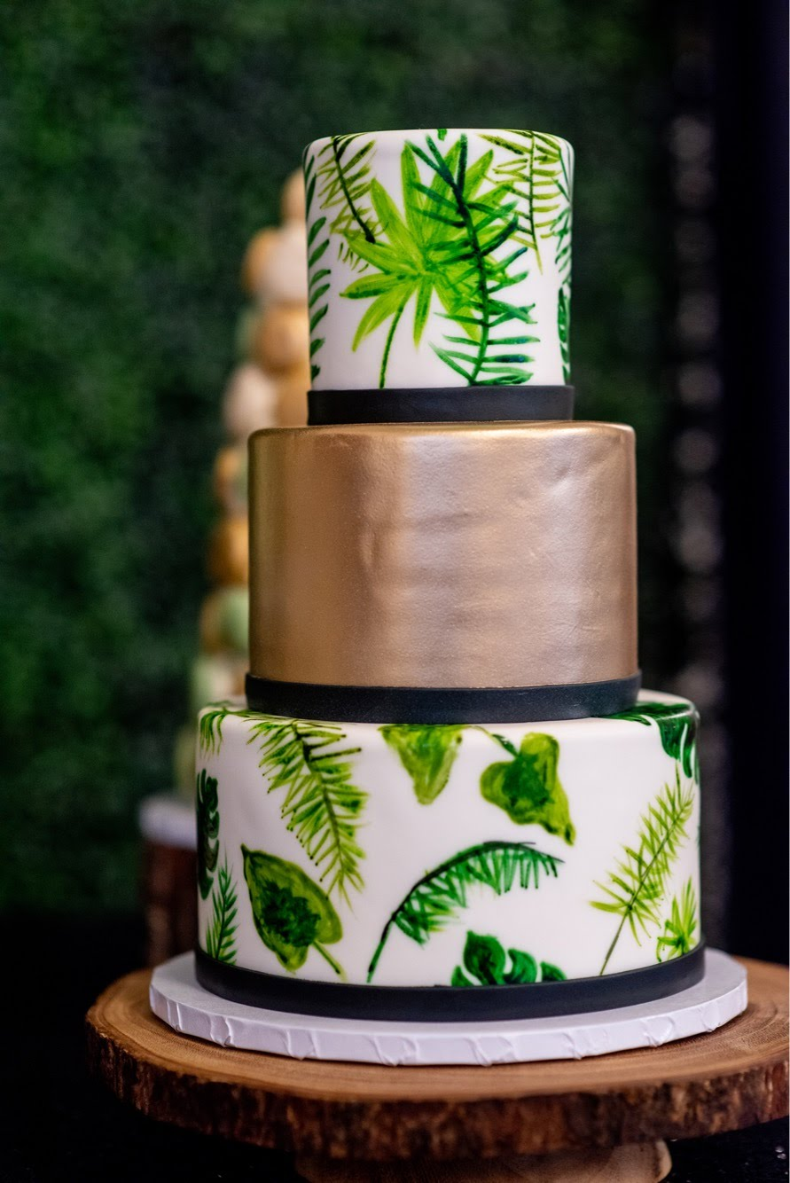 Tropical Greens and Gold