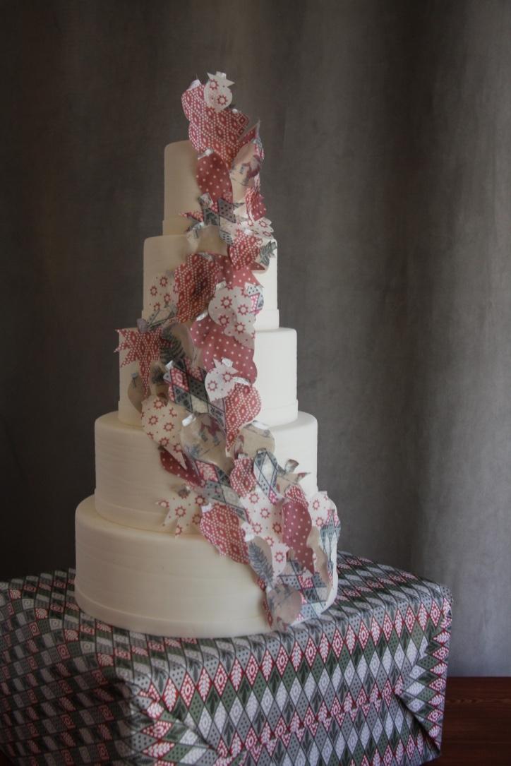 Cascading Ornament Cake
