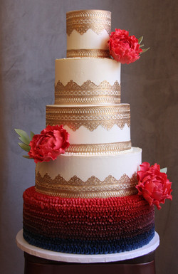 Red and Gold Lace