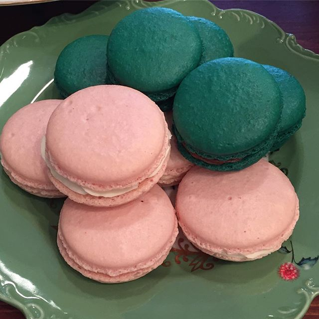 This is a bit unusual for us, but we have some ready made french macaron today. $2 each with either