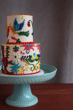 Vibrant baby shower close up