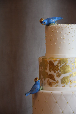 Blue Love Birds - Detail