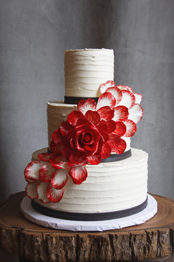 Cascading Red Rose
