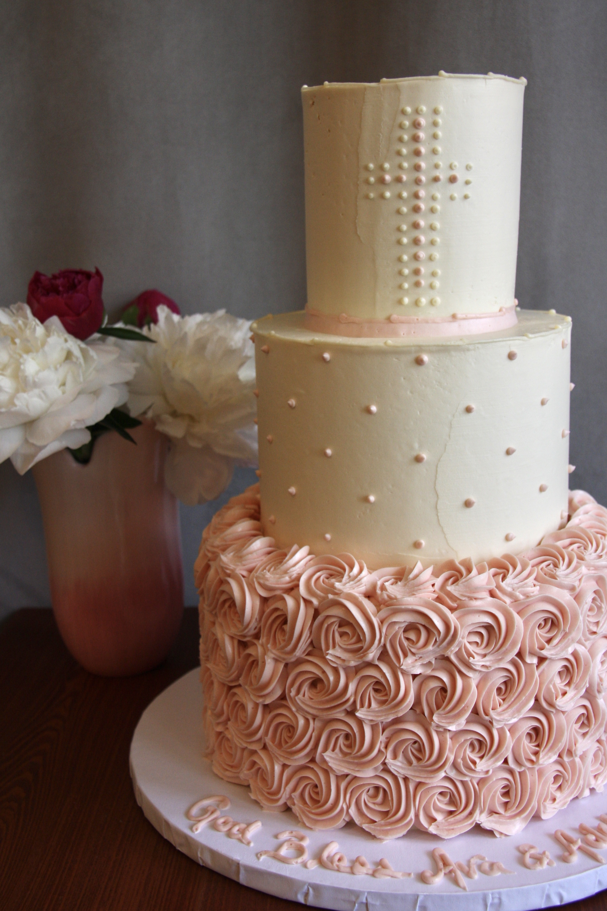 Pink Confirmation cake