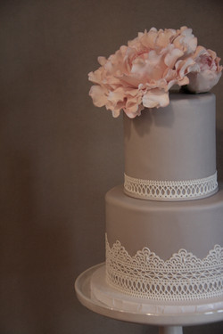 Peony and Lace Detail
