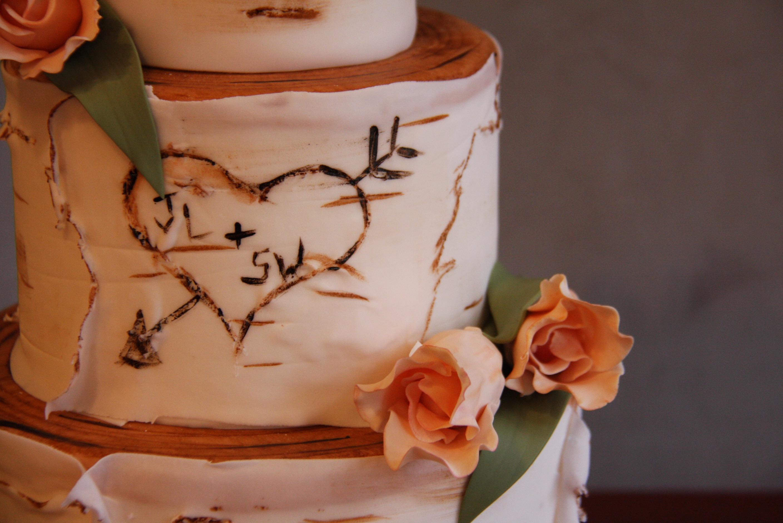 Birch Tree Wedding Cake