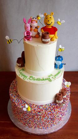Winnie The Pooh Sprinkle Cake
