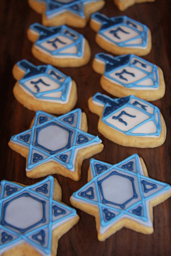 Channukah cookies
