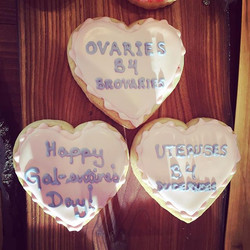 Celebrate gal-entine's with our fabulous cookies