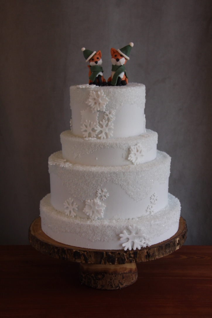 Snowy Fox Cake
