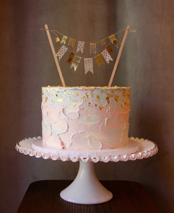 Pink Blue and Gold Gender Reveal