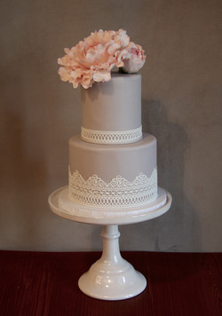 Pink Peony and Lace