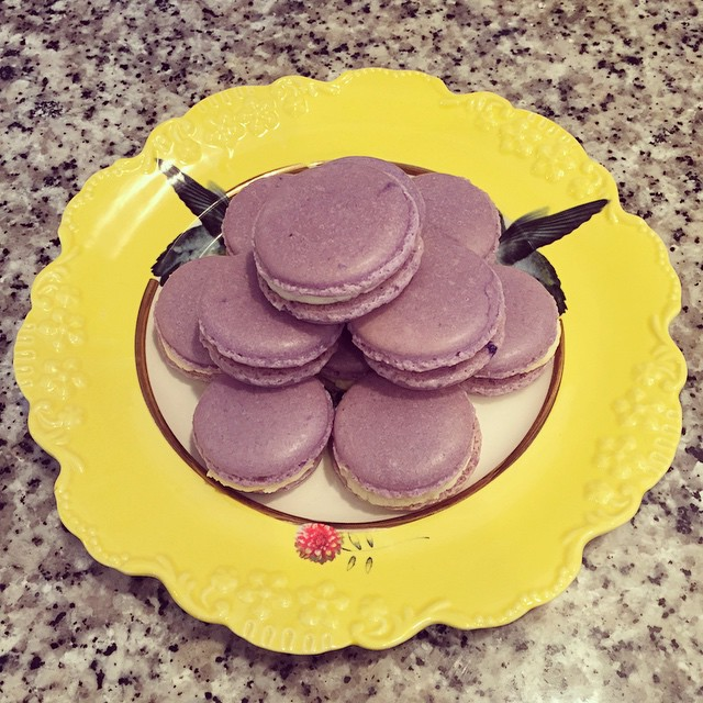 Macaron success! Lavender buttercream!