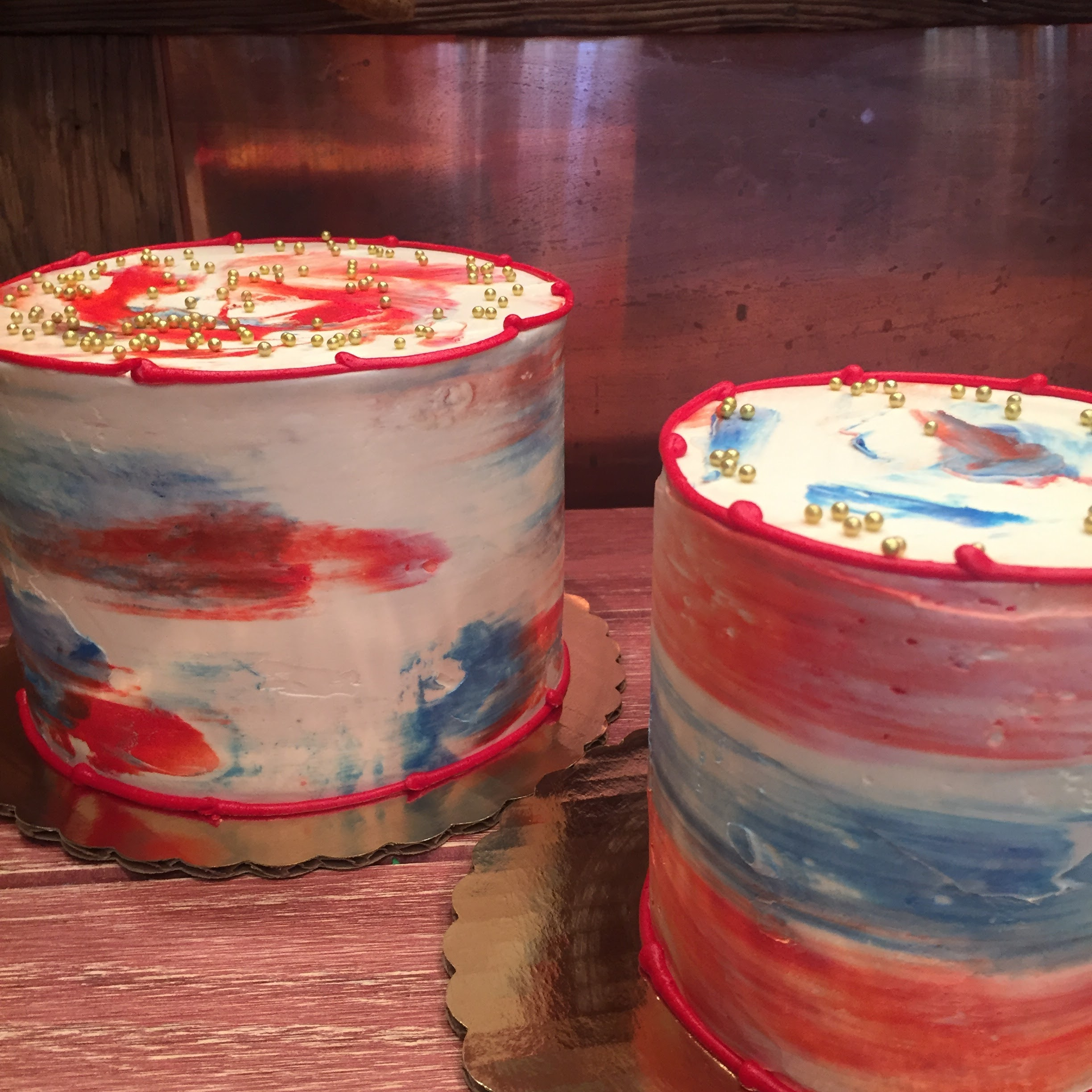 Small 4th of July cakes