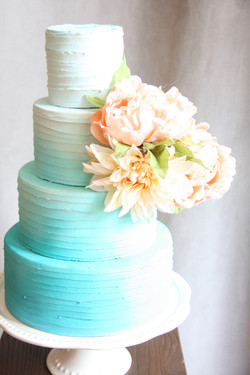 Teal Blue Ombre