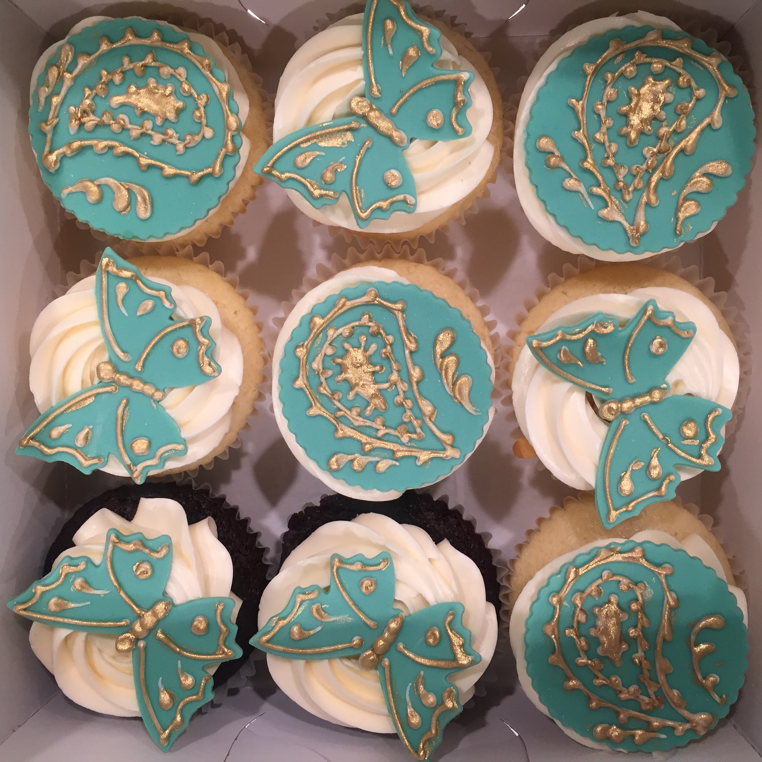 Paisley Butterfly Cupcakes