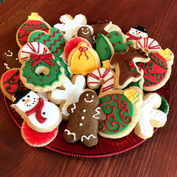 Holiday cookies platter