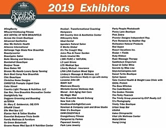Line up of exhibitors at the Beauty and