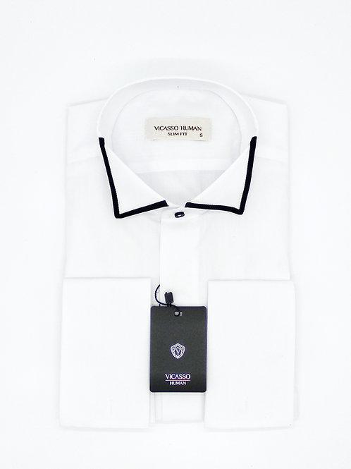 Мужская сорочка Vicasso Human с манжетами под запонки