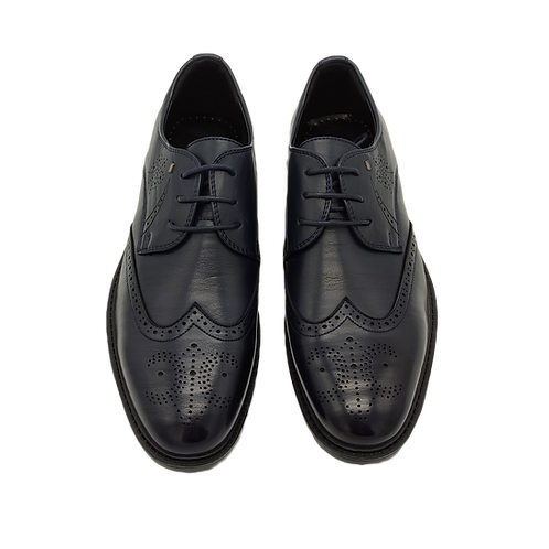 """Мужские ботинки """"Оксфорды"""" темно-синего цвета"""