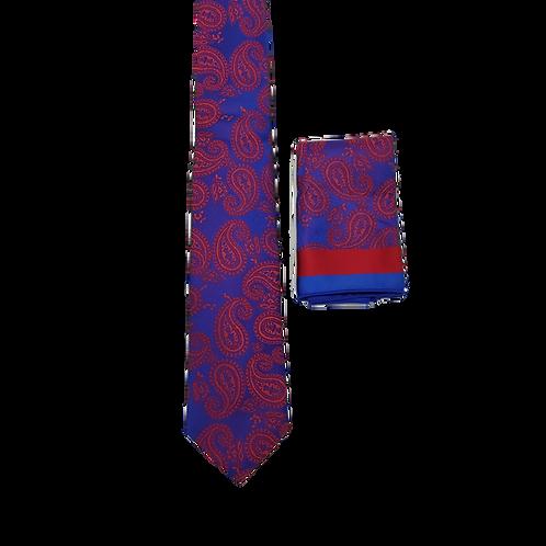 Фактурный мужской галстук с платочком.