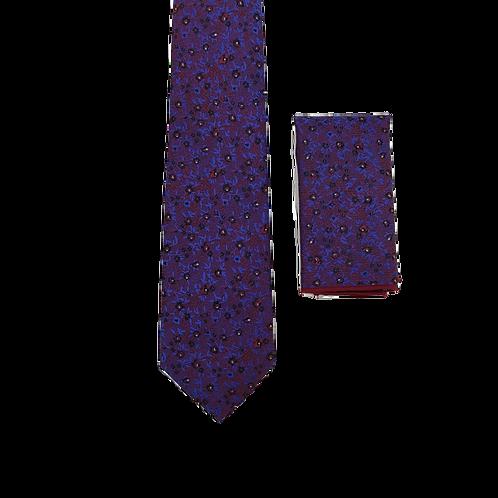 Фактурный мужской галстук с платочком