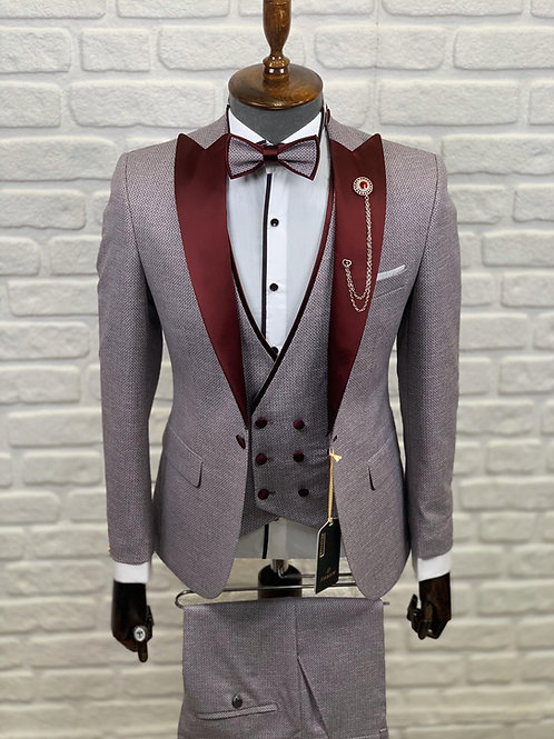 """Торжественный мужской костюм в цвете """"Бордо"""""""