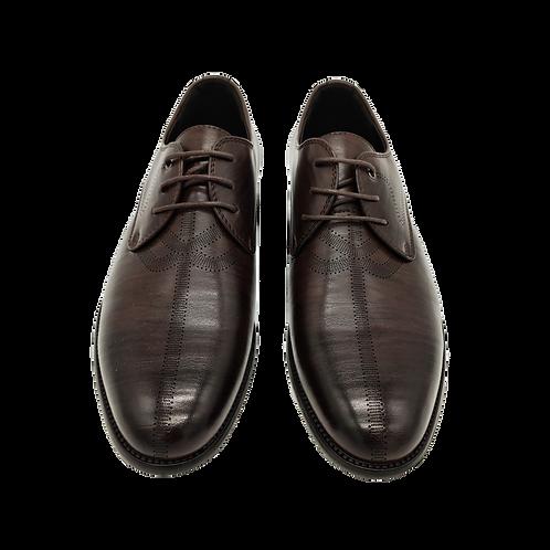 """Мужские ботинки """"Оксфорды"""" темно-коричневого цвета"""
