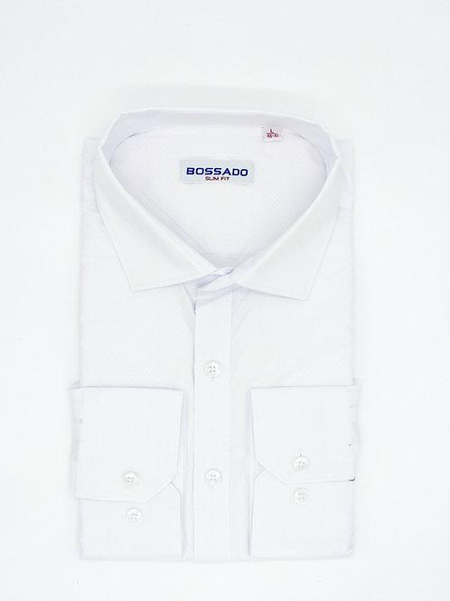 Мужская рубашка BOSSADO приталенная фактурная