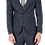 Thumbnail: Мужской костюм тройка темно-серого цвета JP004