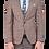 Thumbnail: Мужской костюм тройка бежевого цвета в клетку JP003