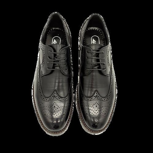 """Мужские ботинки """"Оксфорды"""" черного цвета"""
