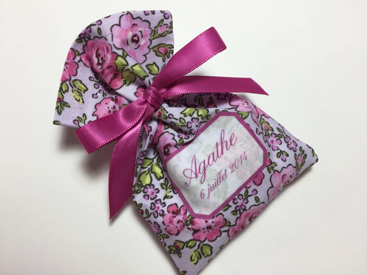 Popeline Roses in pink (violine)