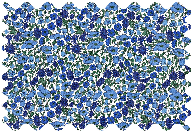 Petal & bud bleu