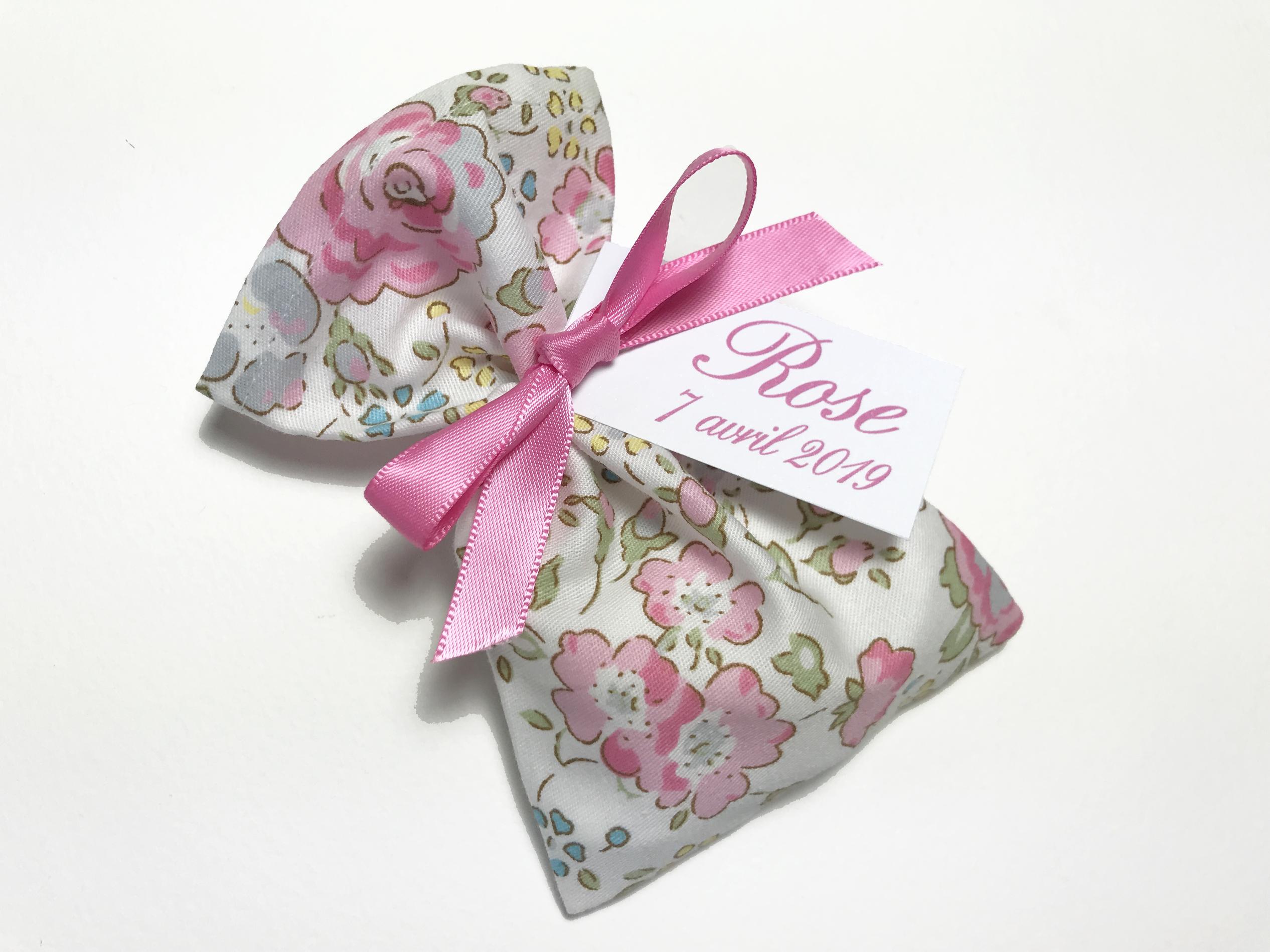 Popeline fleurs roses