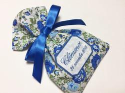 Popeline Roses in blue